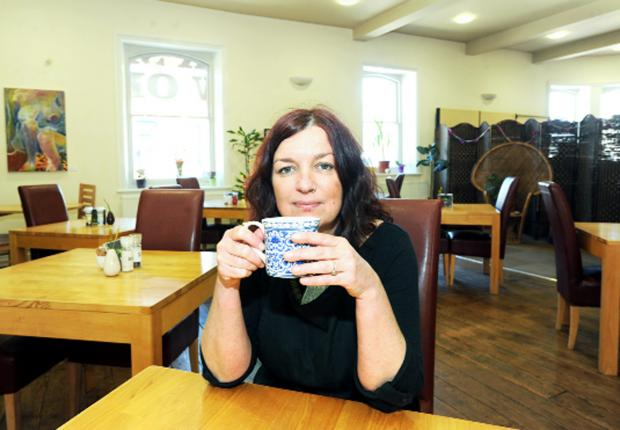 This Is Lancashire: Sprout Cafe owner Andrea Holden