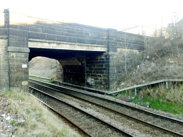 RAIL WORKS: The bridge in Harpers Lane that is to be rebuilt.
