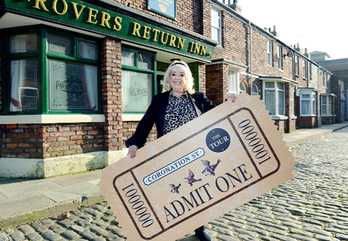 Julie Goodyear (Bet Lynch) returns to her street of fame