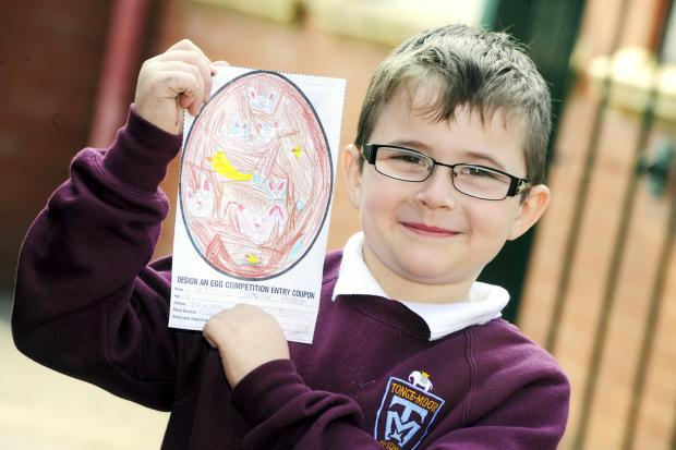Keigan Taziker-Preston, aged seven, of Tonge Moor Primary School, one of last year's Easter egg design competition winners.