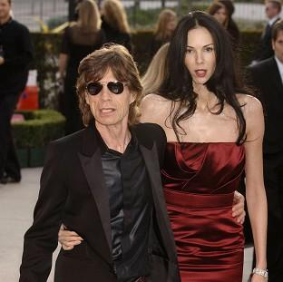 L'Wren Scott with Mick Jagger