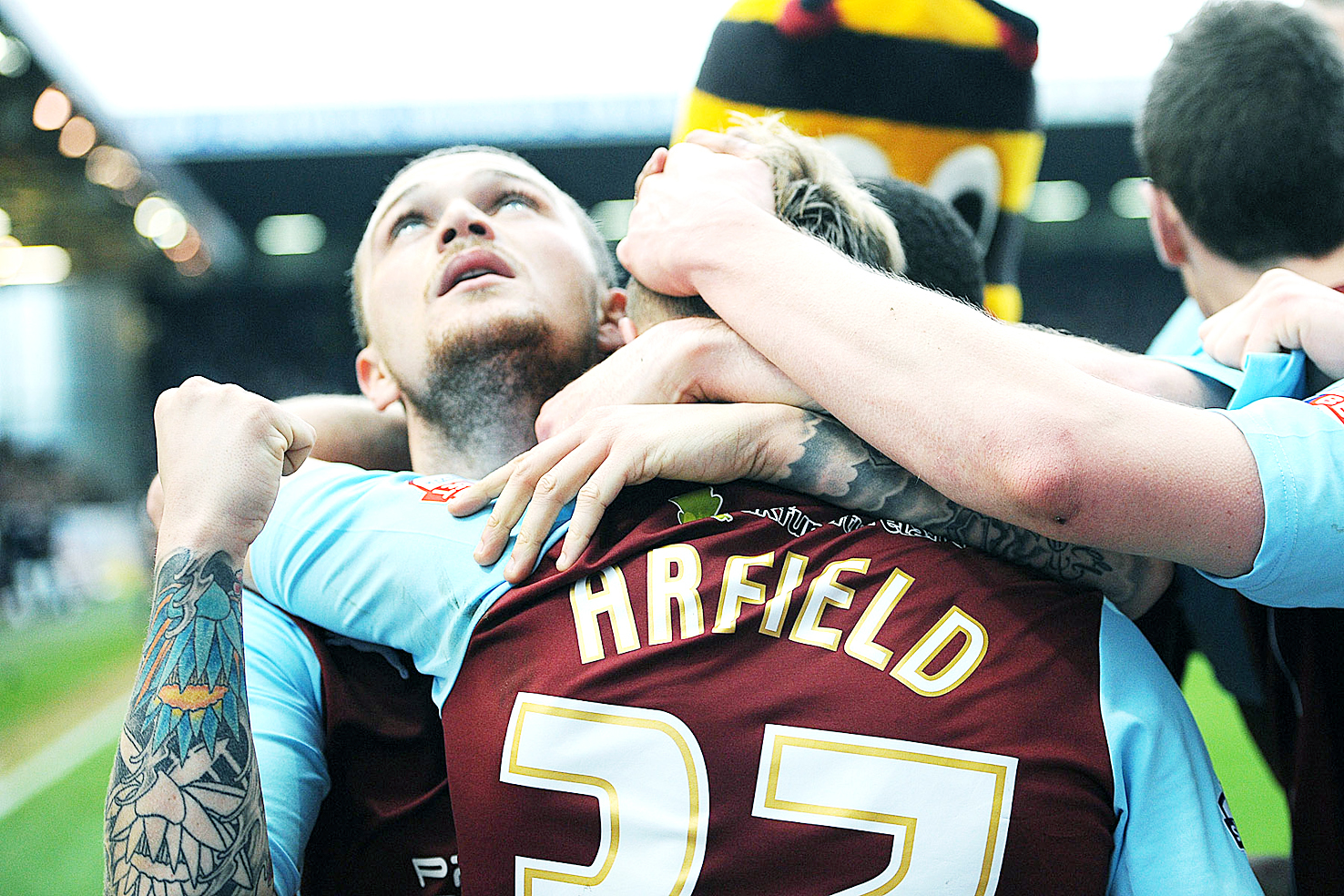 Burnley celebrate their win over Leeds United