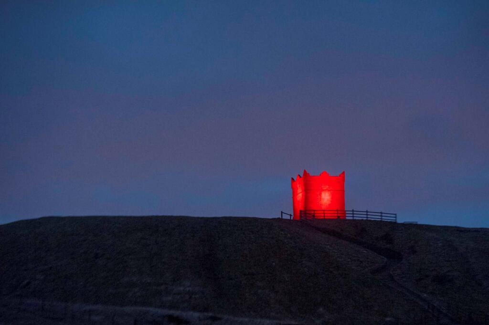 UPDATED: Famous Horwich landmark Rivington Pike lit up red — to promote CHORLEY