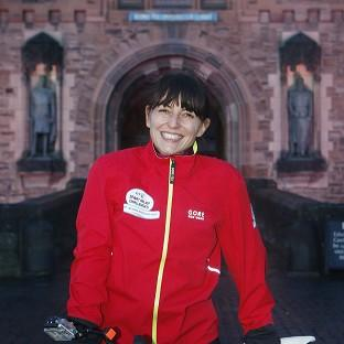 Davina McCall was all smiles when she began he