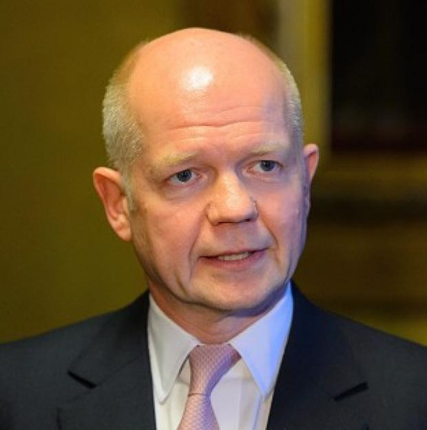 This Is Lancashire: Foreign Secretary William Hague urged a broader energy mix as he insisted nations should not 'run scared' of Moscow's 'bullying behaviour' in Ukraine