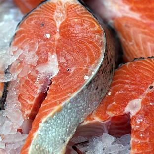 Salmon sales were up 38% to �465 million