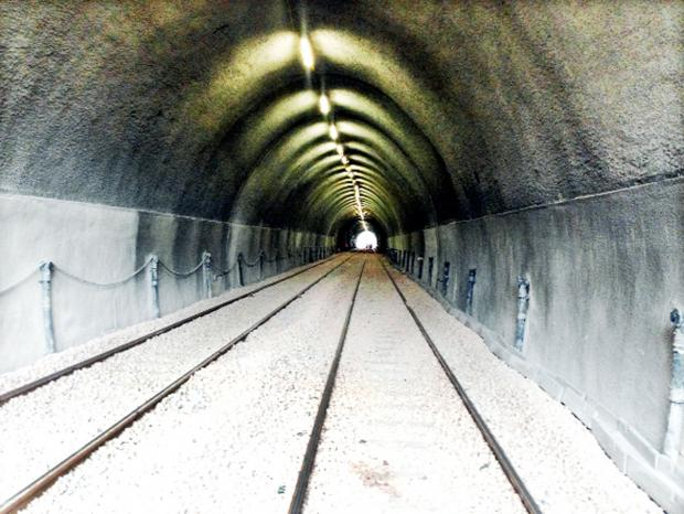 The restored Holme Tunnel which is due to re-open today