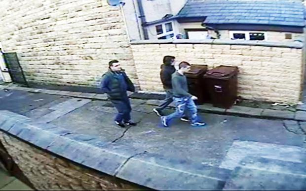 CCTV image of the men police wish to speak to about the incident