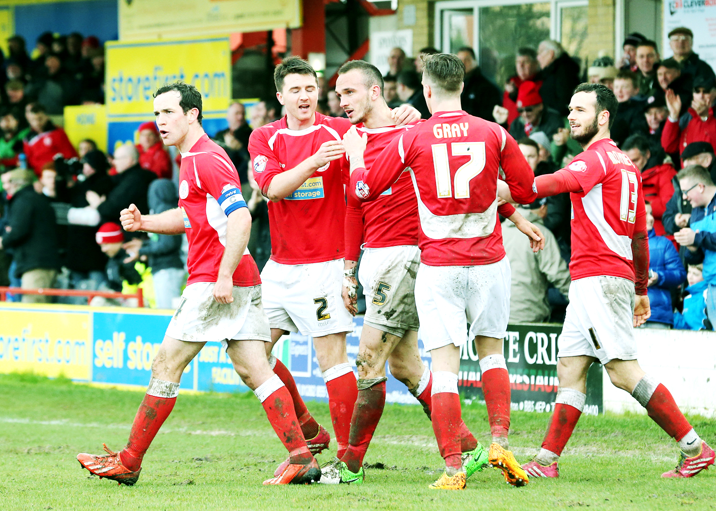 Tom Aldred scored for Stanley on Saturday