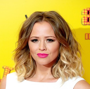 Kimberley Walsh has said everything is fine with her baby after her fall