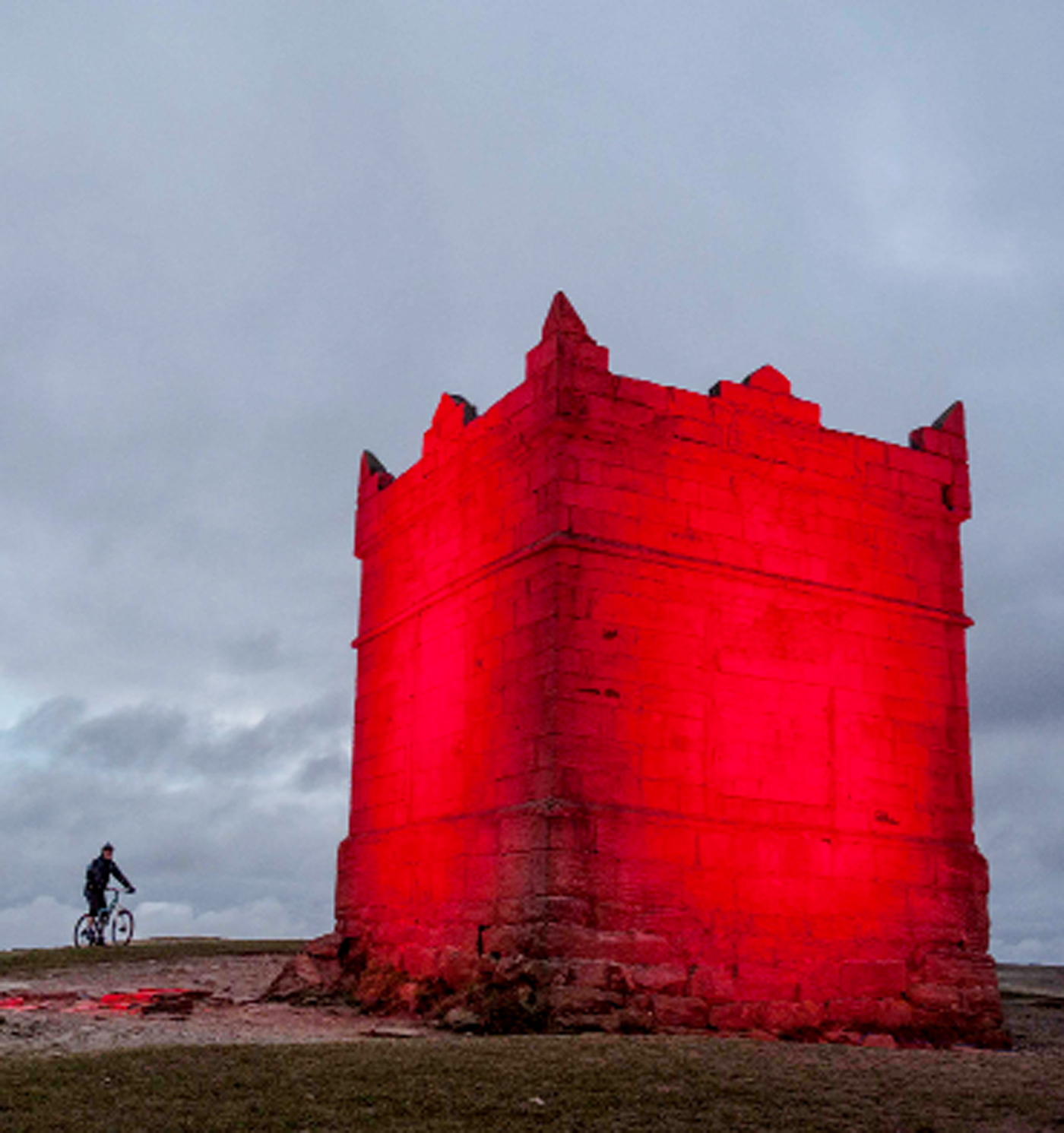 RED LIGHT: Rivington Pike which is in Chorley borough