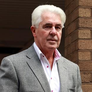 This Is Lancashire: Publicist Max Clifford arrives at Southwark Crown Court where he is accused of a total of 11 counts of indecent assault against seven women and girls