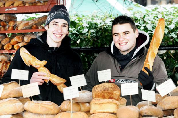 Matt Dol and Damien Couraud from the French Corner  at Ramsbottom Farmers Market