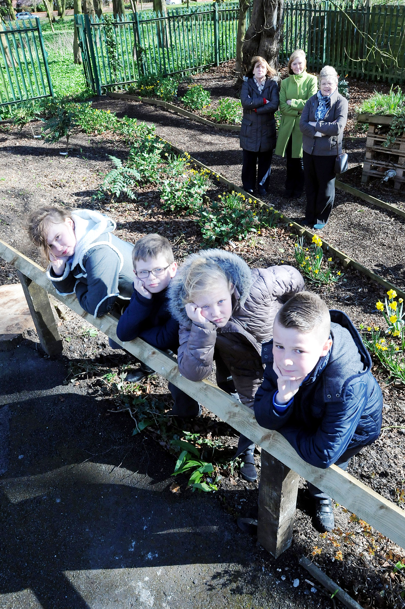Thieves steal flowers planted by school children