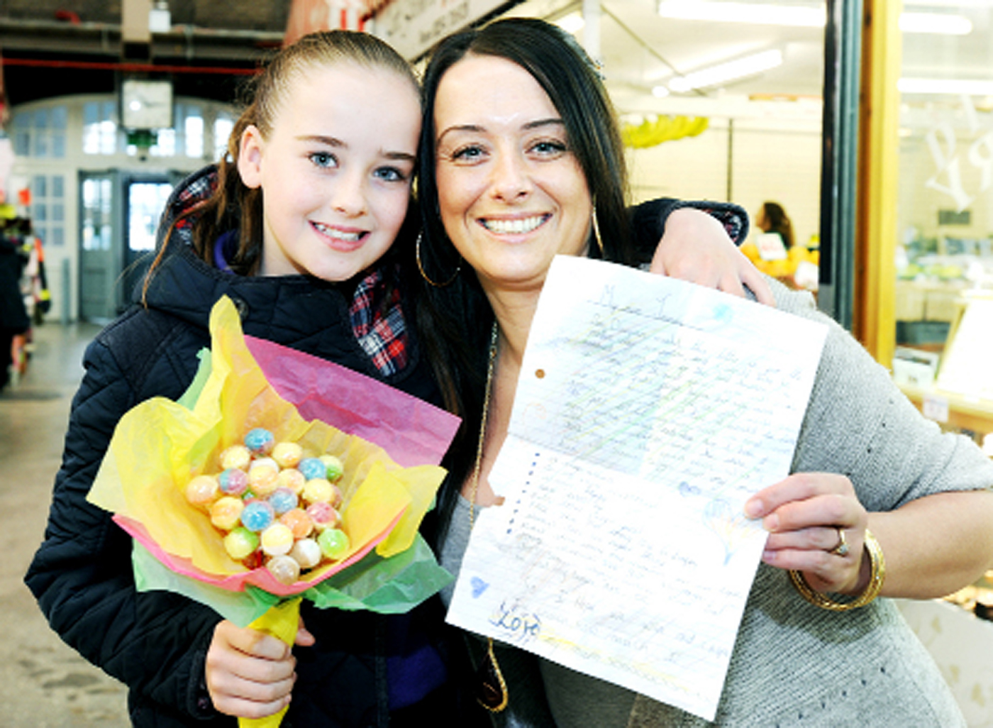 Joanne Graves won the Darwen Market Mother's Day Makeover competition after being nominated by her daughter Caitlin Smith 11