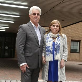 Max Clifford and his daughter Louise Clifford outside Southwark Crown Court