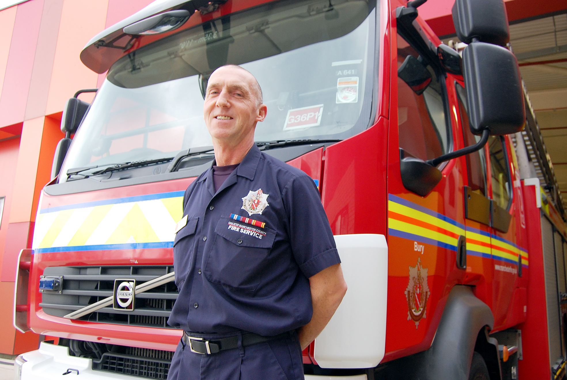 Firefighter keith Hadley