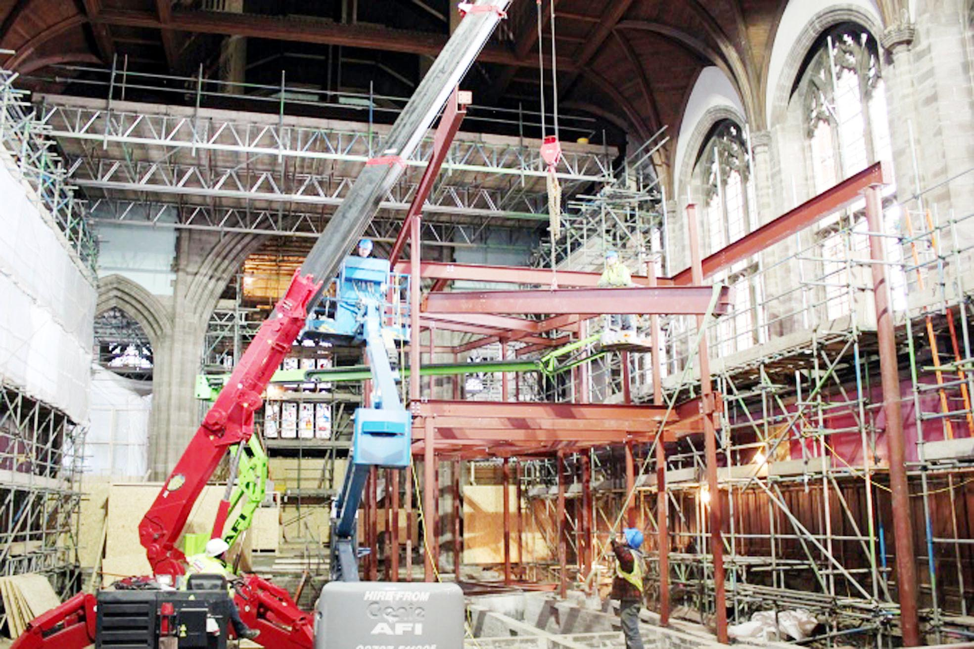 Trainees to help with All Souls Church restoration