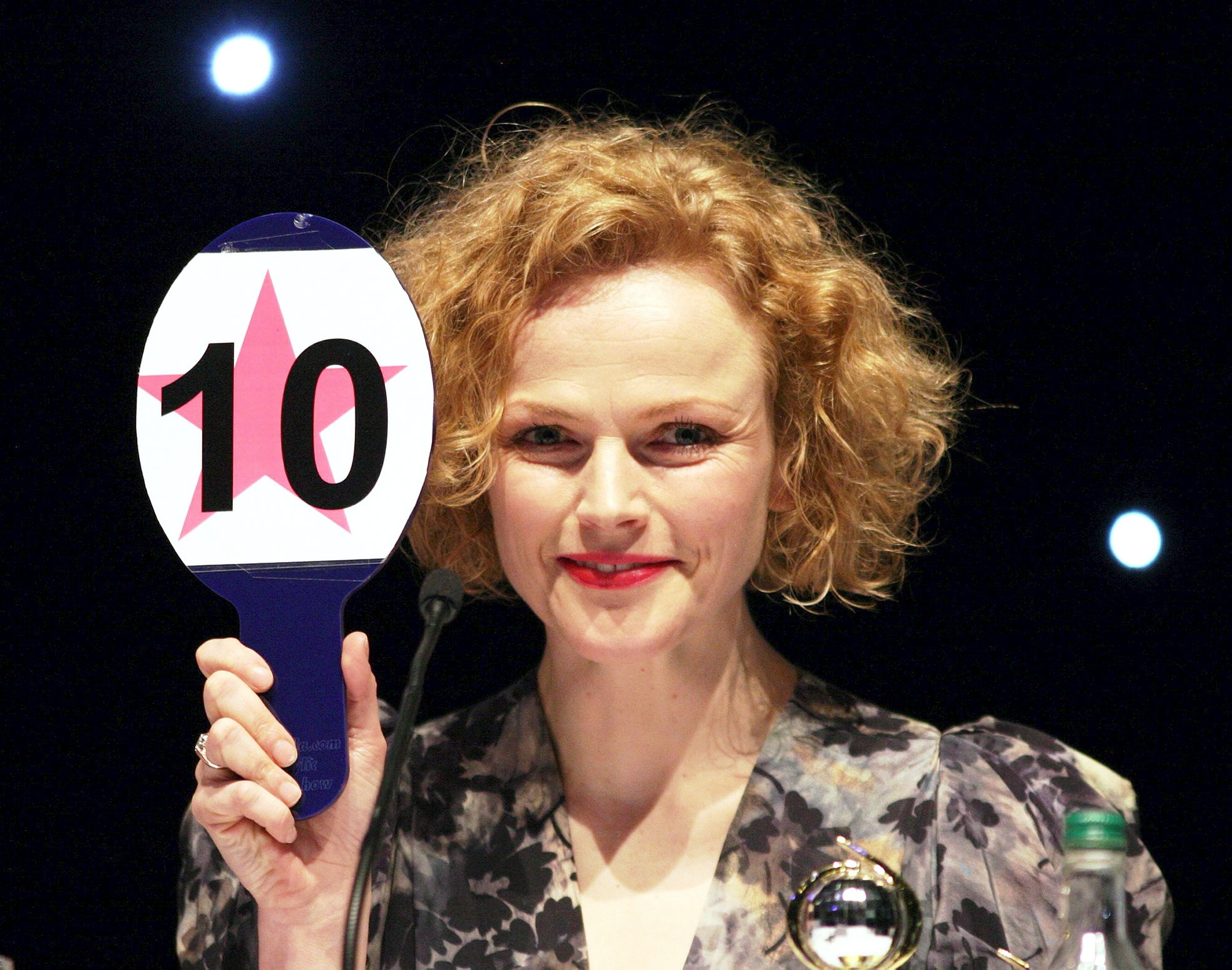 Hospice patron Maxine Peake at the Strictly competition