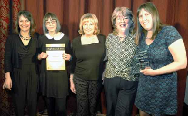 The Podiatry Team from Lancashire Care NHS Foundation Trust show off their Partnership Working Award