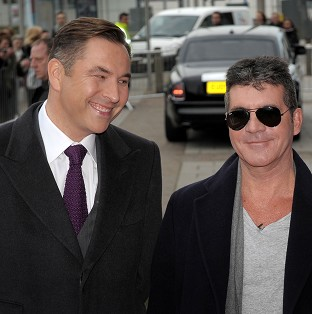 Simon Cowell and David Walliams