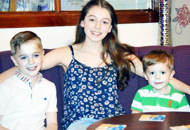 Hollie with brothers Noah and Jayden McGibbon
