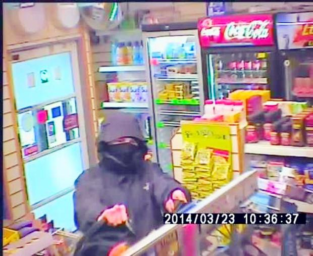 Shopkeeper's knife robbery terror