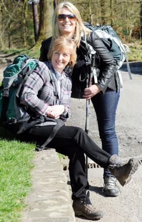 Judith Bromley, left, and Gabrielle MacDonald, Director of MacDonald Care Ltd, getting in training for the trek