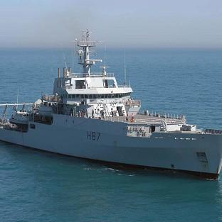 HMS Echo is helping in
