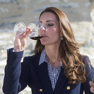 This Is Lancashire: The Duchess of Cambridge told wine-makers she was really enjoying being able to drink again after giving birth.