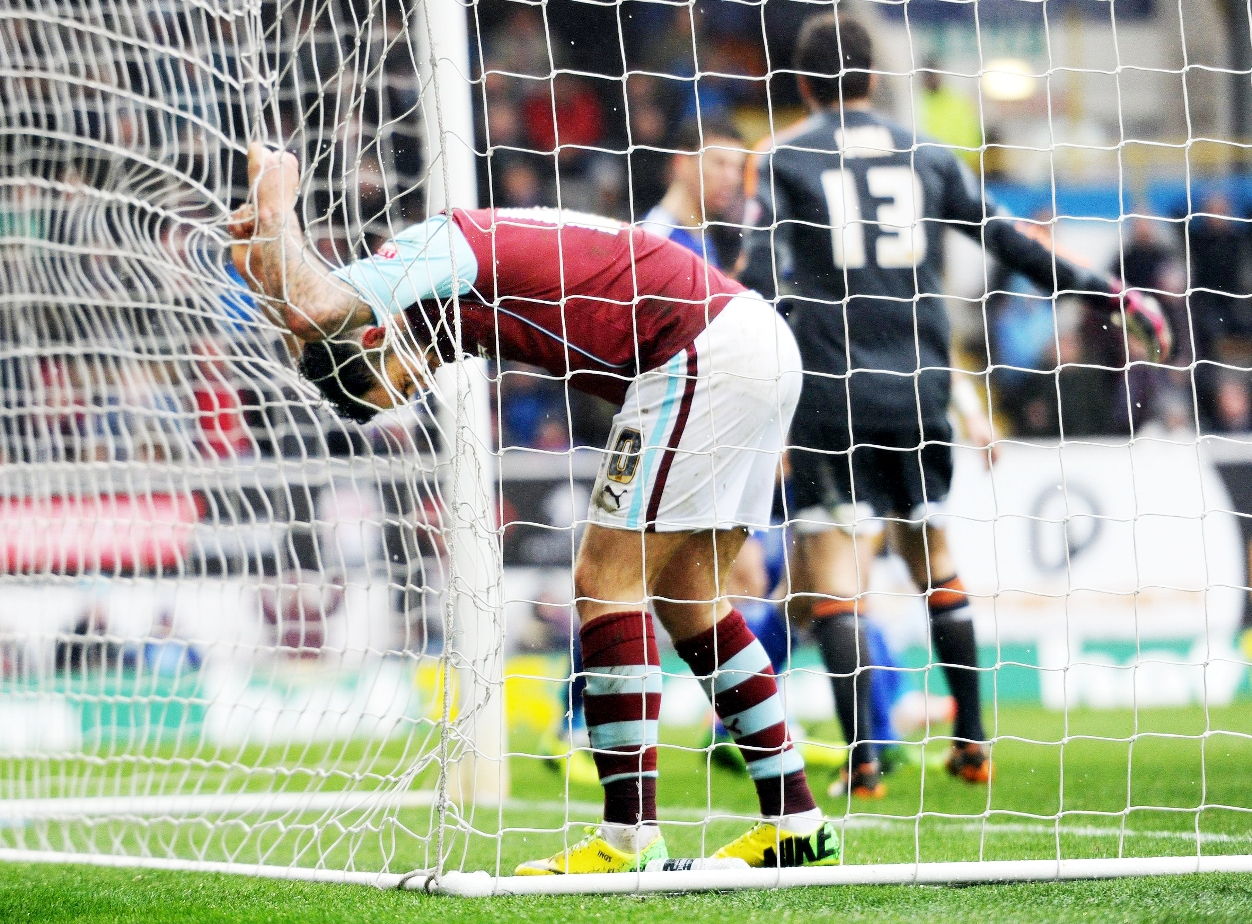 Danny Ings is left frustrated as Burnley cannot find a way through