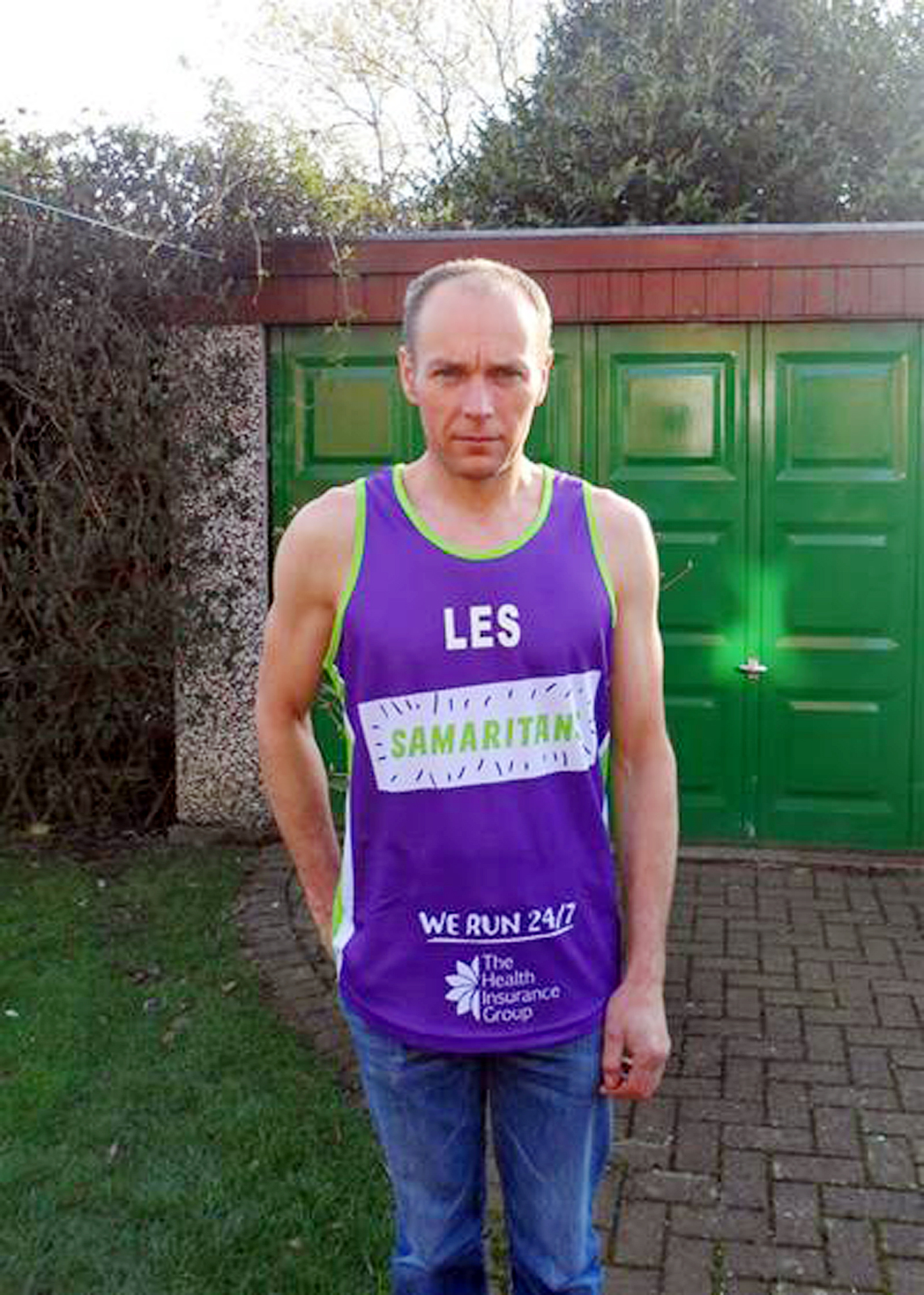 Les Smalley training for the London Marathon
