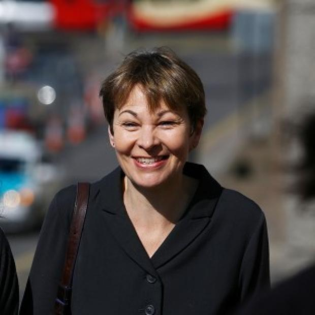 This Is Lancashire: Green MP Caroline Lucas arrives at Brighton Magistrates' Court