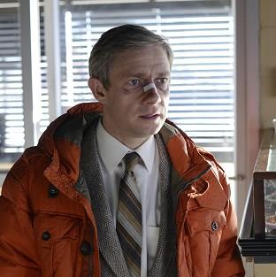 Martin Freeman plays insurance salesman Lester Nygaard in the Fargo TV series