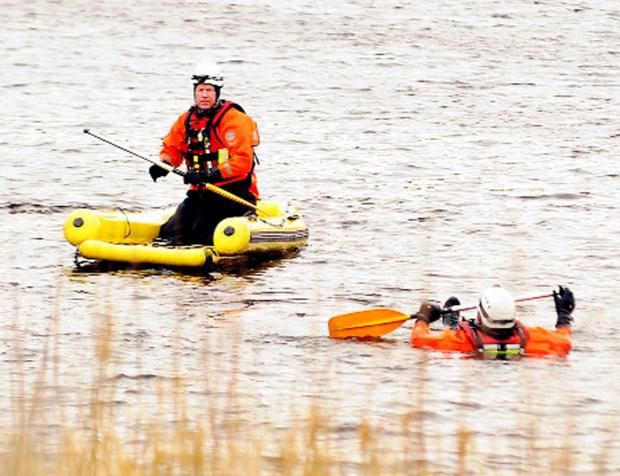 This Is Lancashire: Firefighters take part in aquatic training in Hoddlesden