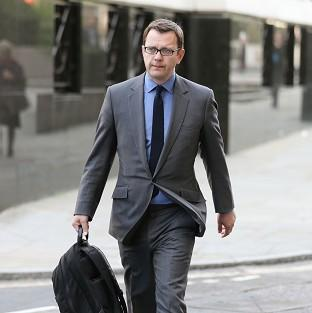 Former News of the World editor Andy Coulson arriv