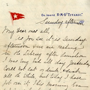 'Last' Titanic letter fetches £119k