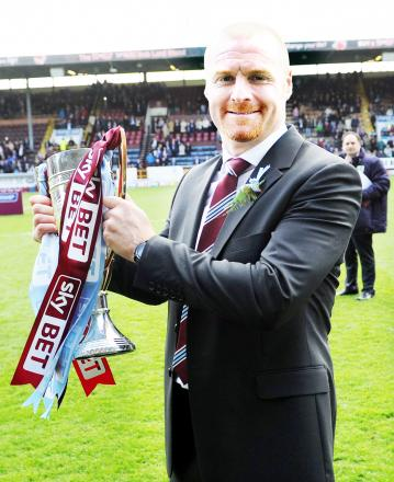 Sean Dyche has led the Clarets up automatically