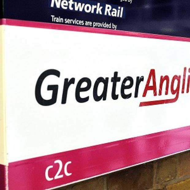 This Is Lancashire: Investigators studied an incident in which a Greater Anglia train hit a stationary train at platform six at Norwich station