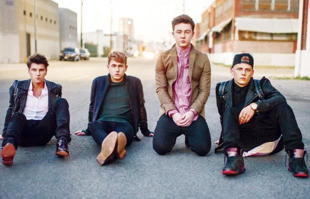 Rixton, from left, Charley Bagnall, Danny Wilkin, Jake Roche and Lewi Morgan