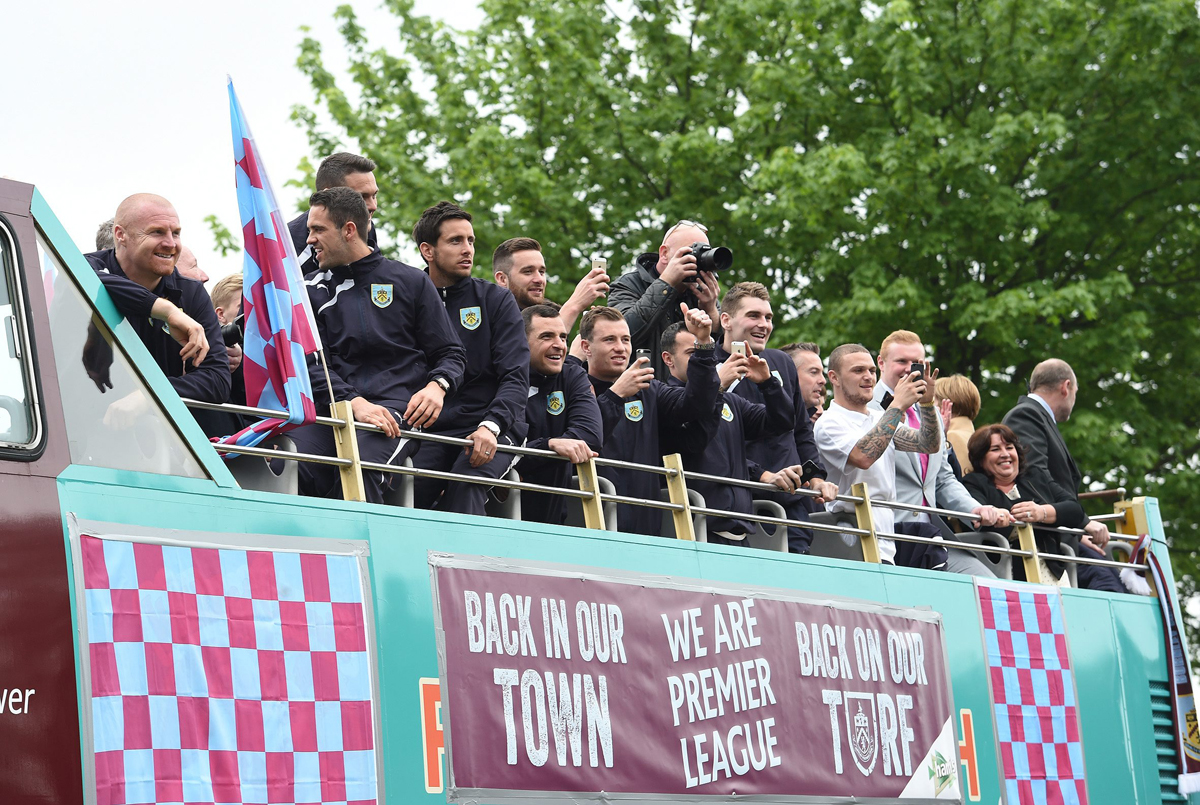 Burnley keeper Heaton overwhelmed by fan support during parade