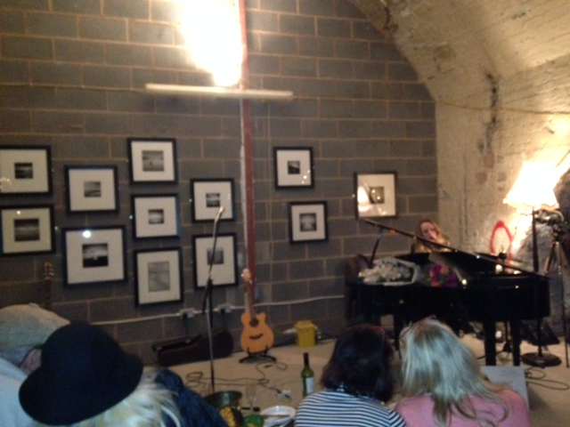 Cammie Carter entertains guests at Art In The Vaults