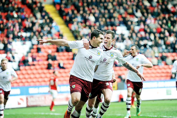 Clarets striker Sam Vokes was voted Burnley's Player of the Year in a close contest
