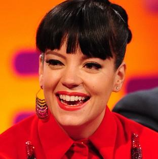 Lily Allen is recovering in hospital