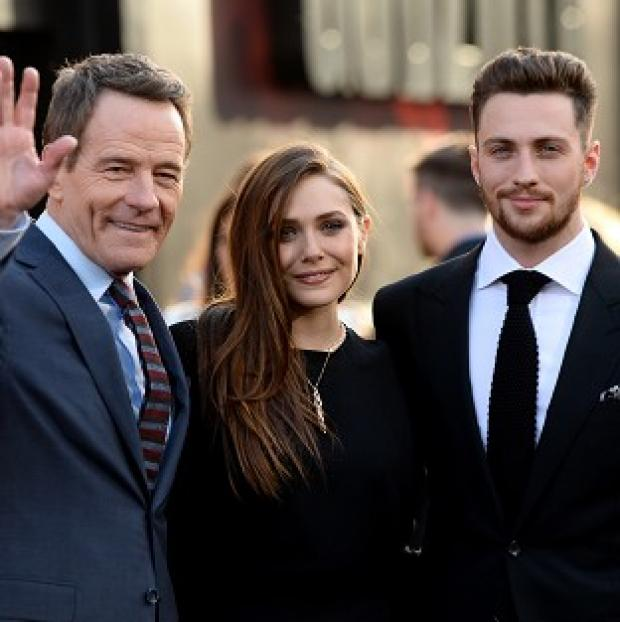 This Is Lancashire: Bryan Cranston, Elizabeth Olsen and Aaron Taylor-Johnson at the LA premiere of Godzilla