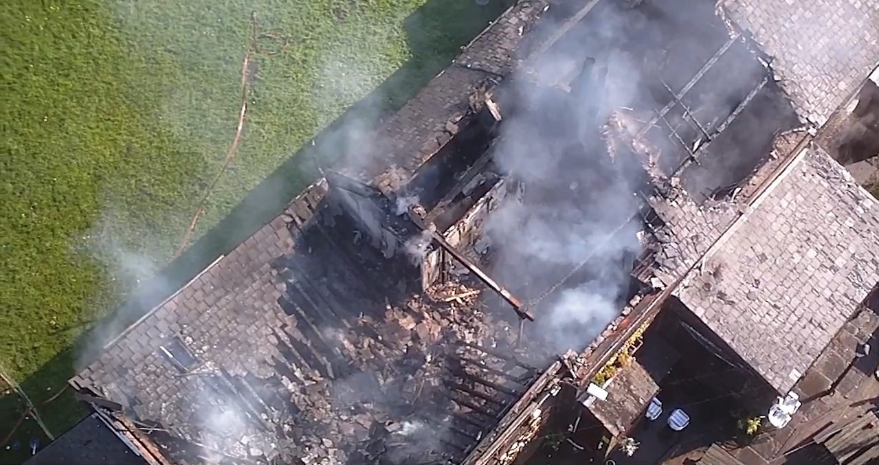 VIDEO: Fire service's unique aerial drone in action