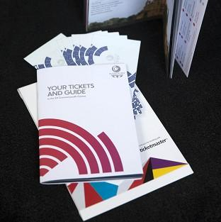 Tickets and a guide for the Glasgow 2014 Commonwealth games are being sent out today
