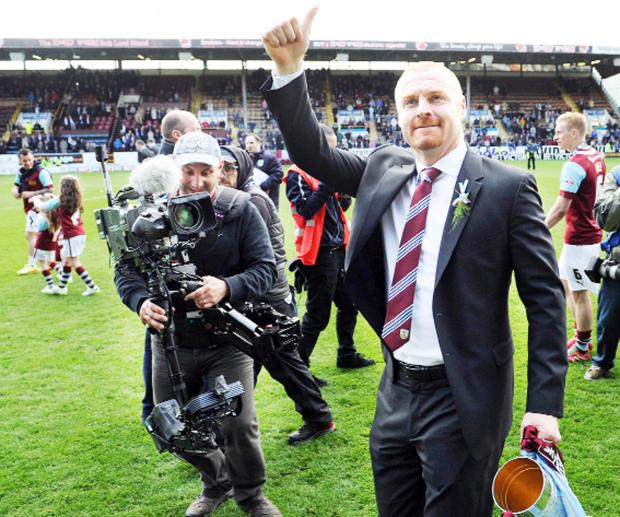 This Is Lancashire: Clarets boss Sean Dyche can rightly feel agrieved not to have been named LMA Championship manager of the season