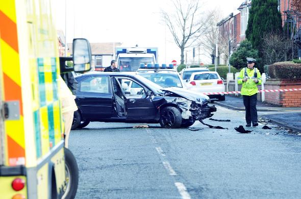 This Is Lancashire: A flashback to a crash at the scene