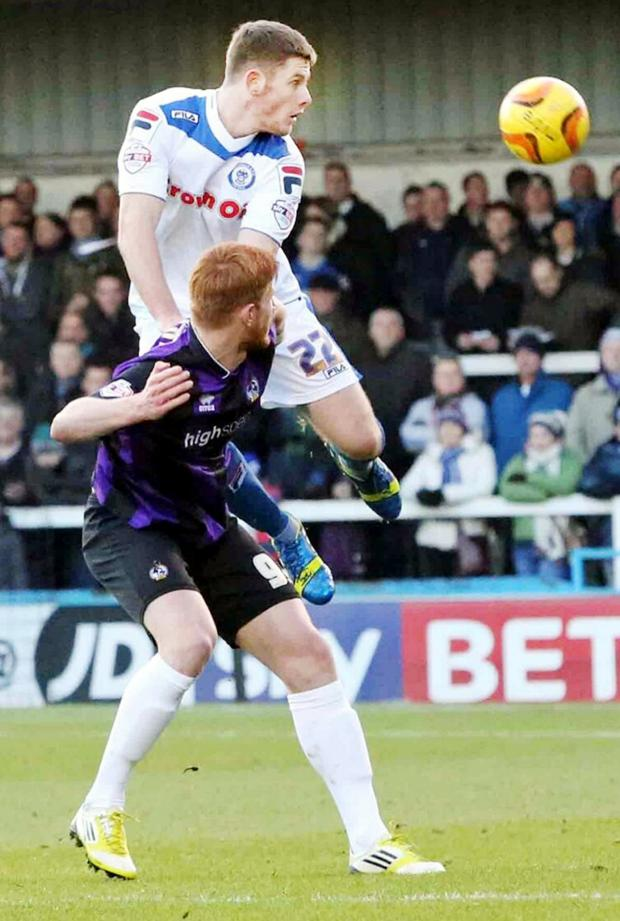 This Is Lancashire: Jack O'Connell at Rochdale
